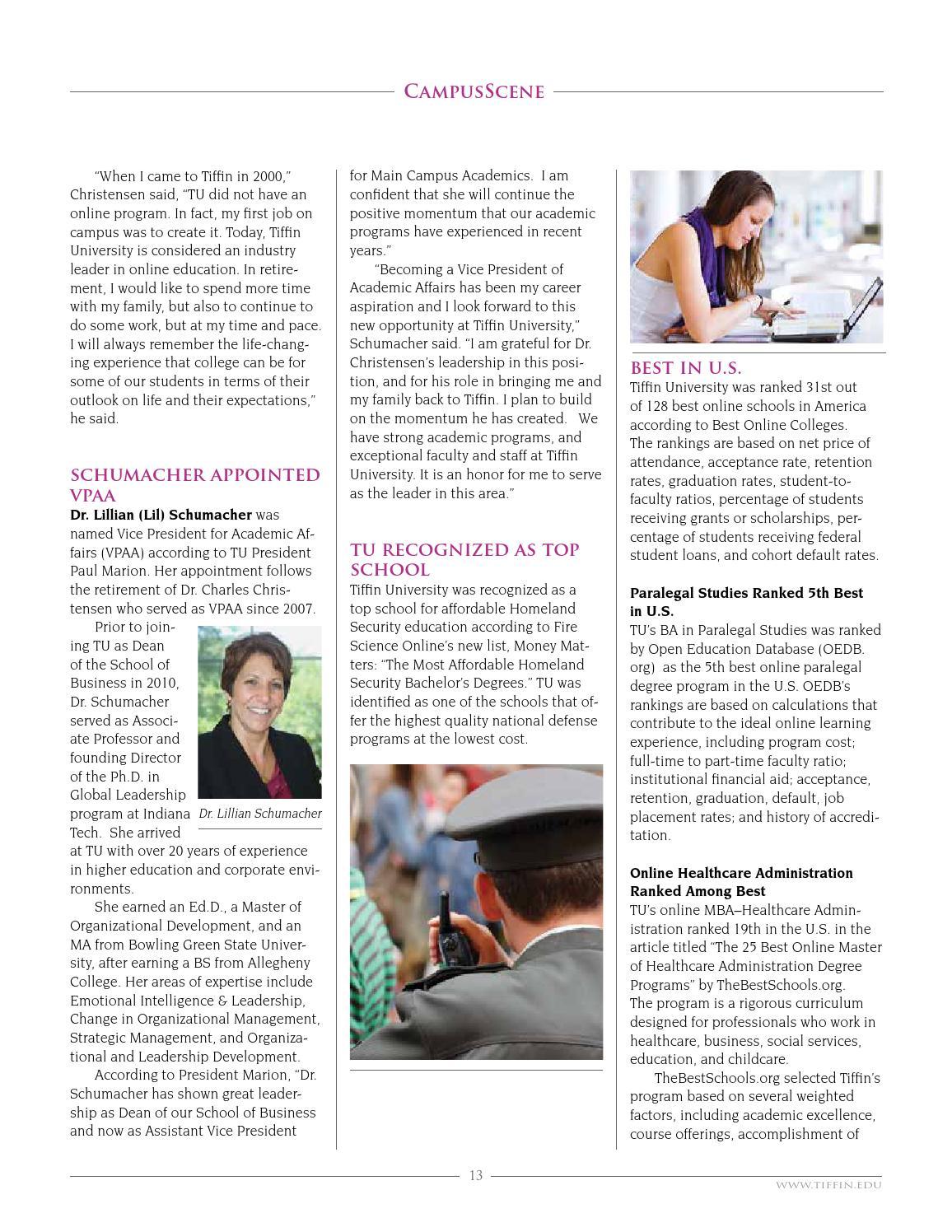 Challenge Magazine Springsummer 2014 By Tiffin University Issuu