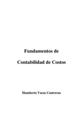 Fundamentos De Contabilidad De Costos Humberto Varas