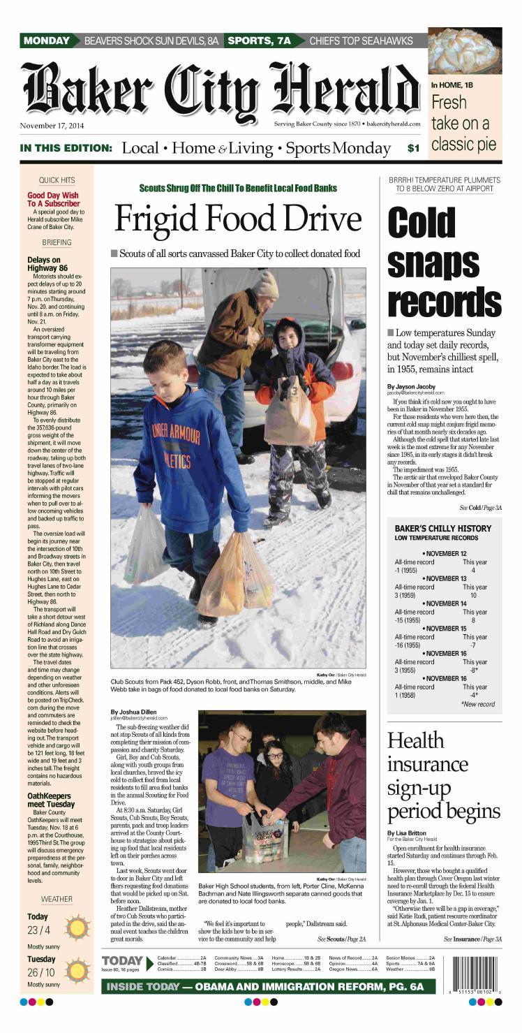 Baker City Herald 11-17-14 by NorthEast Oregon News - issuu
