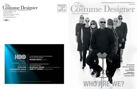 The Costume Designer Winter 2012 By Costume Designers Guild Issuu