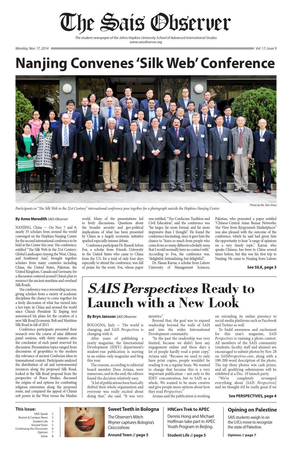 TSO - 20141117 - Vol  17 Issue 9 by The SAIS Observer - issuu