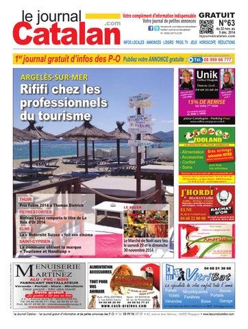 le journal catalan n 63 premier journal gratuit d 39 informations et de petites annonces des p o by. Black Bedroom Furniture Sets. Home Design Ideas