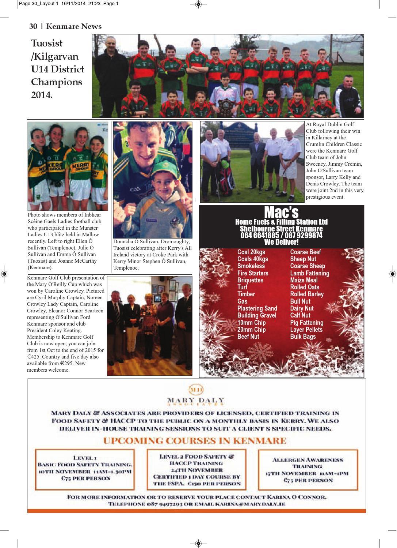 Kenmare news nov 2014