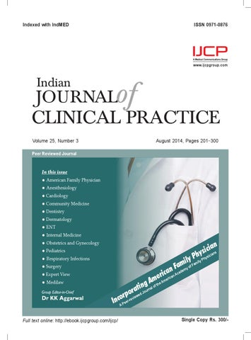 Indian journal of clinical practice august 2014 by ijcp issuu page 1 fandeluxe Gallery