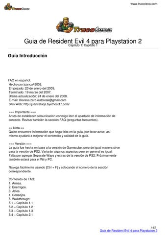 Guia trucoteca resident evil 4 playstation 2 by ilian issuu trucoteca guia de resident evil 4 aloadofball Image collections