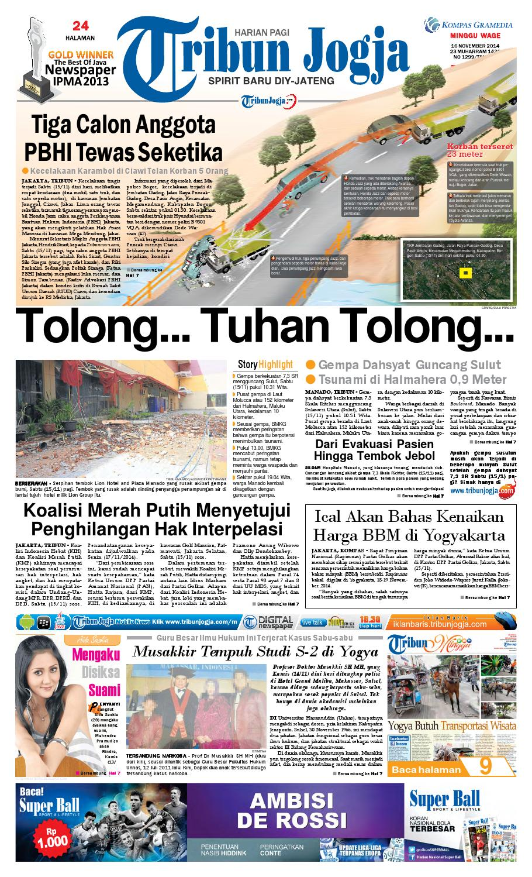 Tribunjogja 16 11 2014 By Tribun Jogja Issuu Kacamata Safety Kerja Motor Kings Ky 713 Original