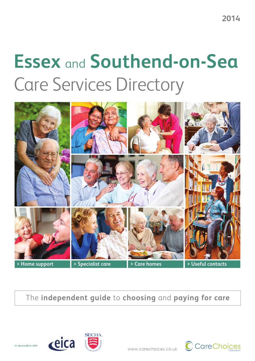 Essex Southend On Sea Care Services Directory 2014 By Choices Ltd