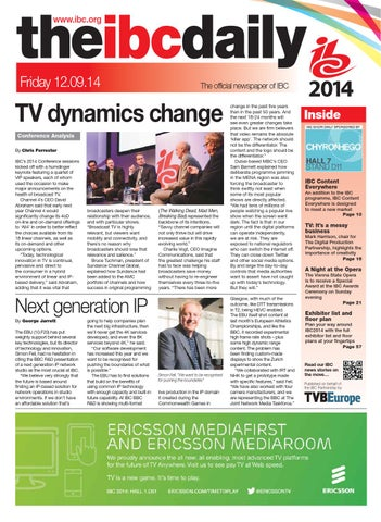 IBC2014 Daily D1 Friday 12 September by Future PLC - issuu