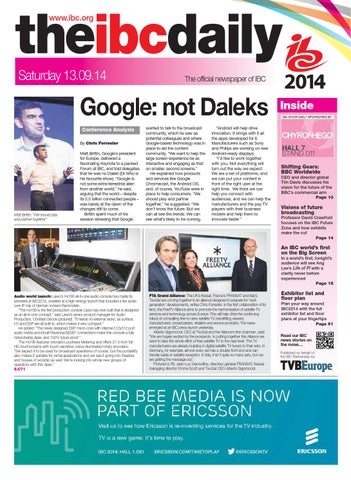 IBC2014 Daily D2 Saturday 13 September by Future PLC - issuu