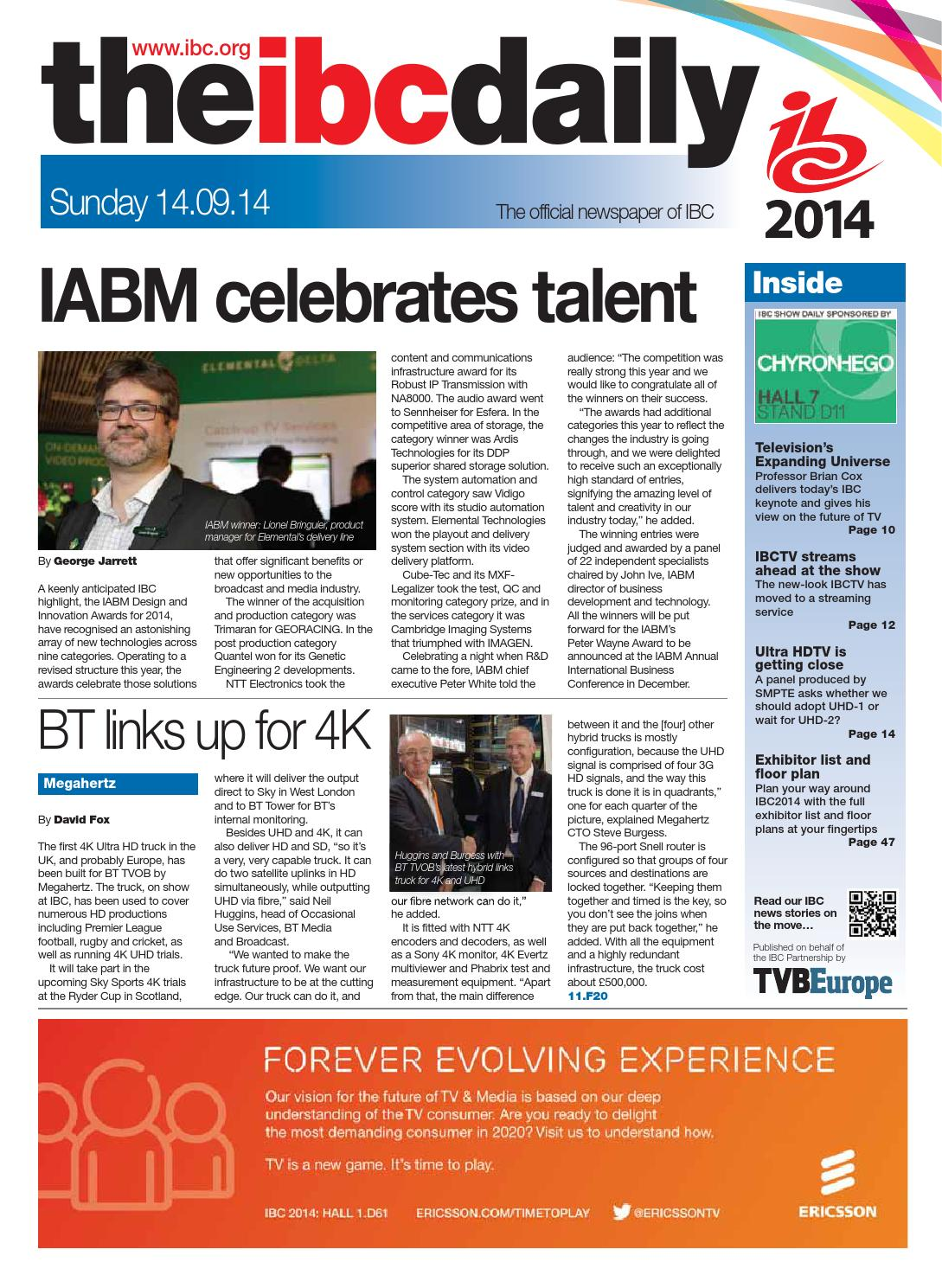 IBC2014 Daily D3 Sunday 14 September by Future PLC - issuu 7d65a4004