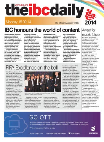 IBC2014 Daily D4 Monday 15 September by Future PLC - issuu