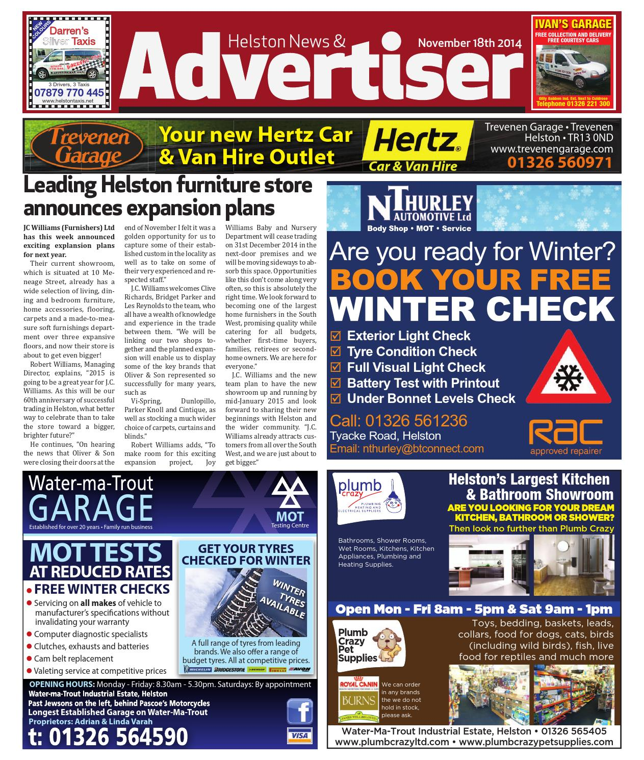 Helston news advertiser 18th november 2014 by helston advertiser helston news advertiser 18th november 2014 by helston advertiser issuu fandeluxe Choice Image