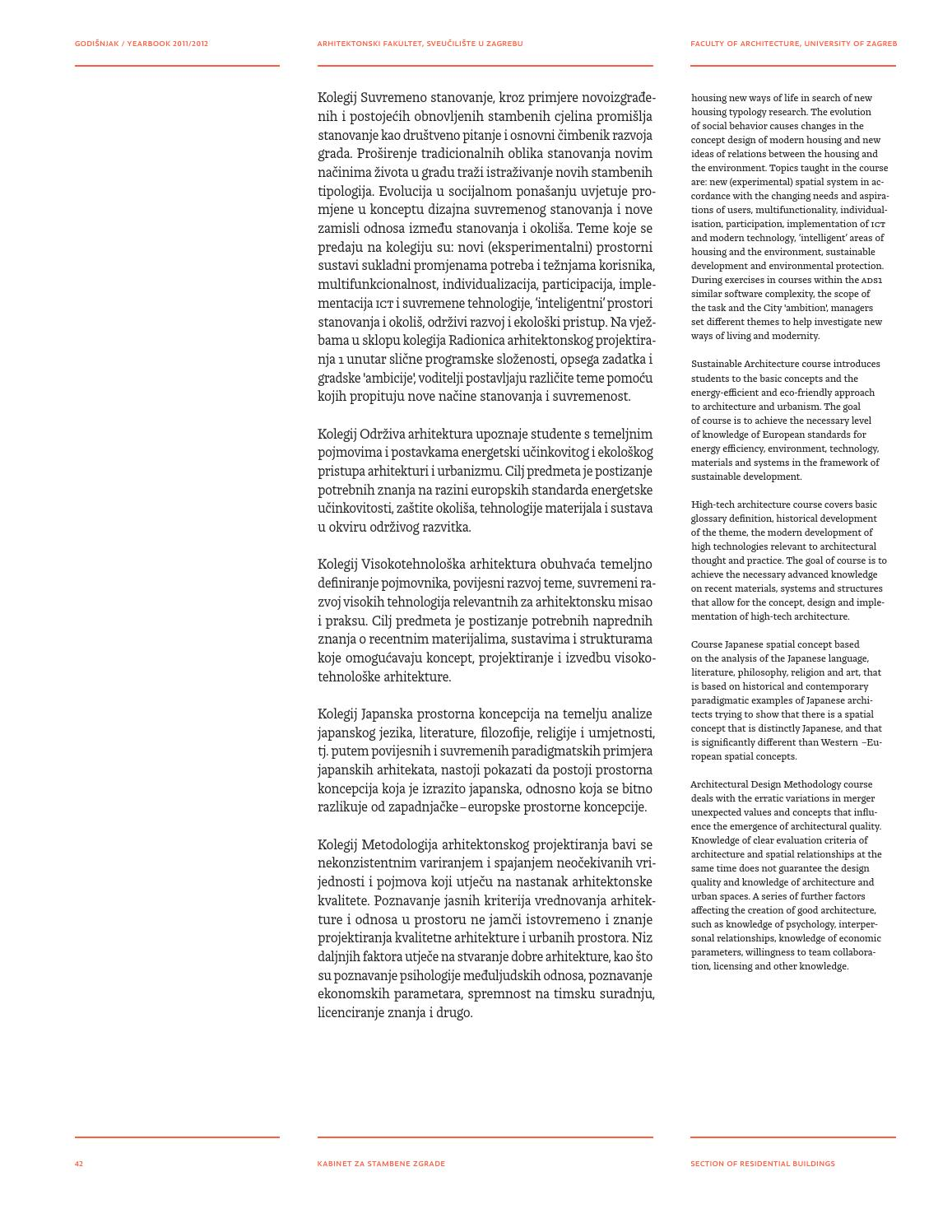 Faculty Of Architecture Zagreb Yearbook 2011 12 By Faculty Of Architecture Zagreb Issuu