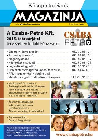 """Cover of """"Békéscsaba középiskolások magazinja 2014 novenber"""""""