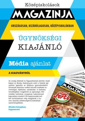 """Cover of """"Középiskolások magazinja kiajánló 7 évfolyam 2014 2015"""""""