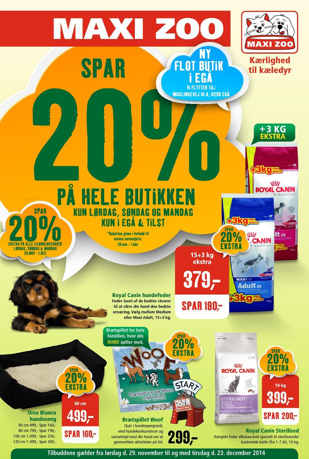 Picture of: Maxizoo Tilbudsavis Uge 49 Ega Og Tilst By Maxi Zoo Danmark A S Issuu