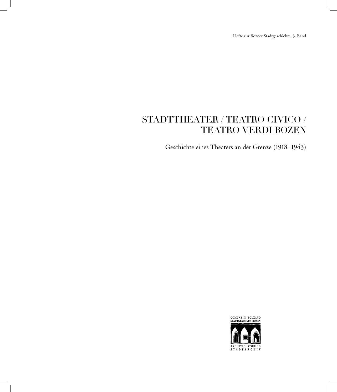 Stadttheater Verdi - Geschichte eines Theaters an der Grenze (1918 ...