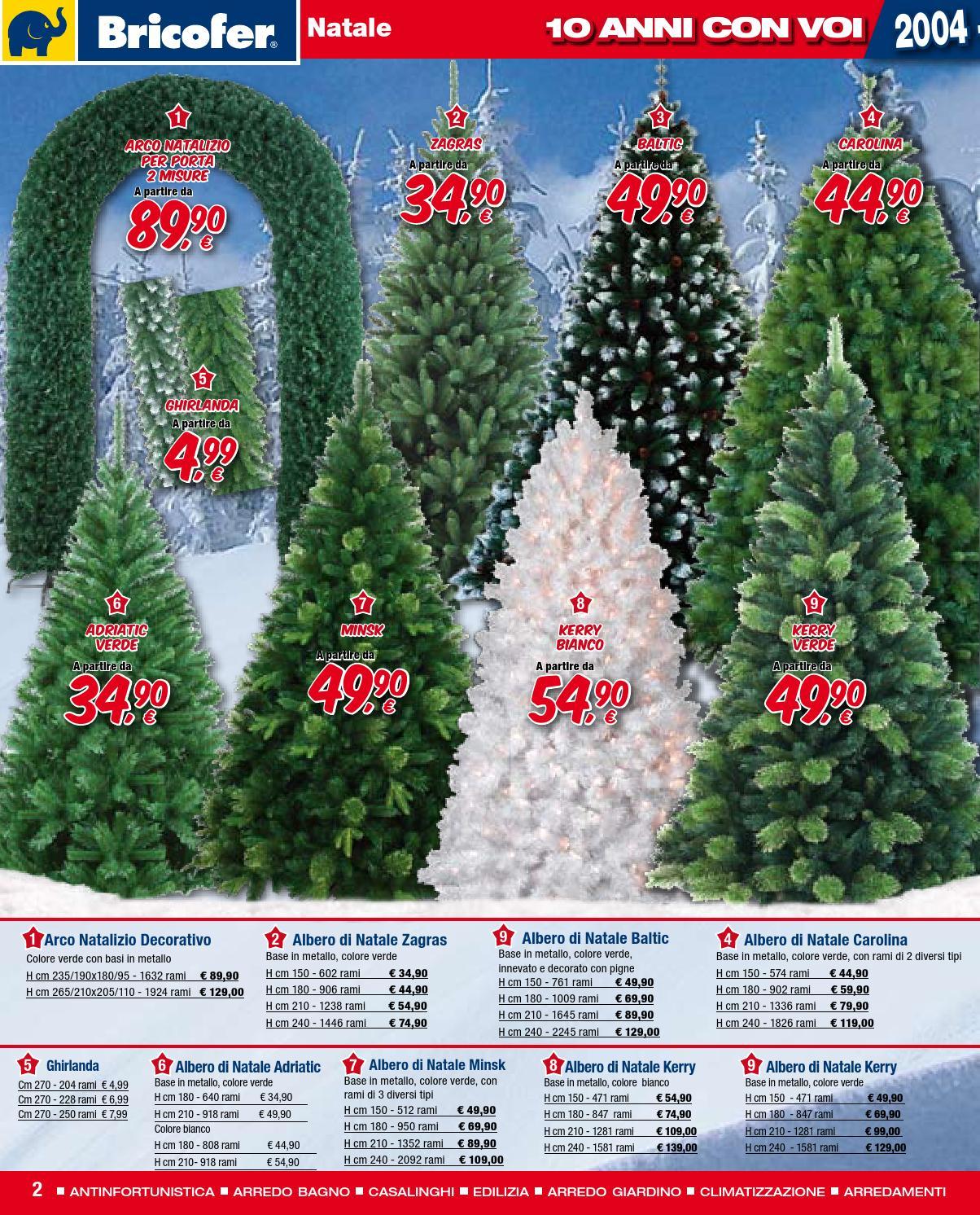 Albero Di Natale H 240.Volantino Bricofer Magnano In Riviera Ud E Spilimbergo Pn By