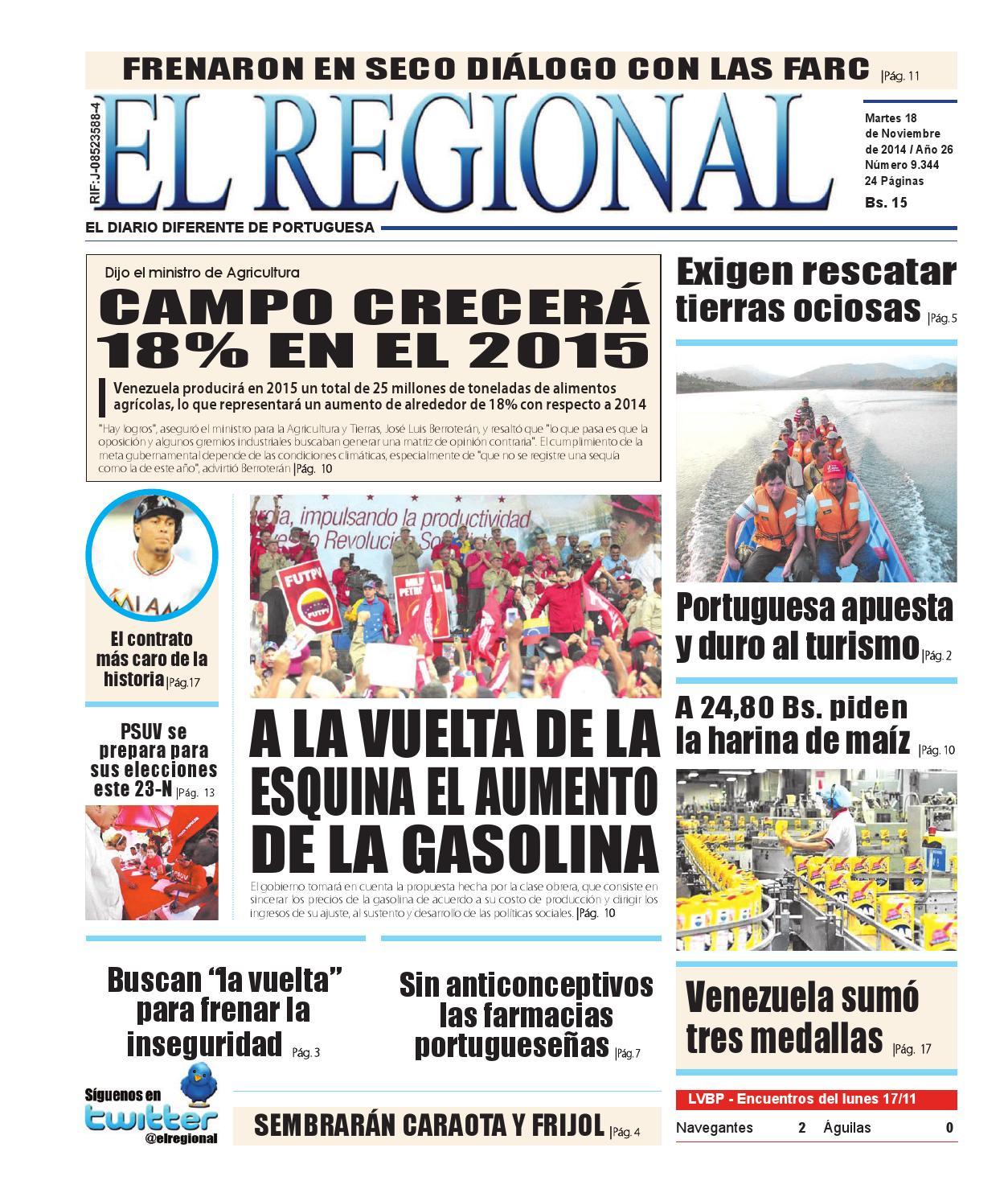Edici N Digital De El Regional 18 De Noviembre De 2014 By Diario  # Muebles Becerrit