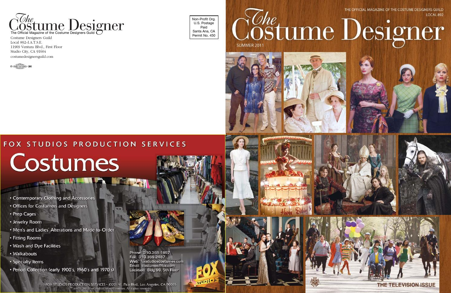 The Costume Designer Summer 2011 By Costume Designers Guild Issuu