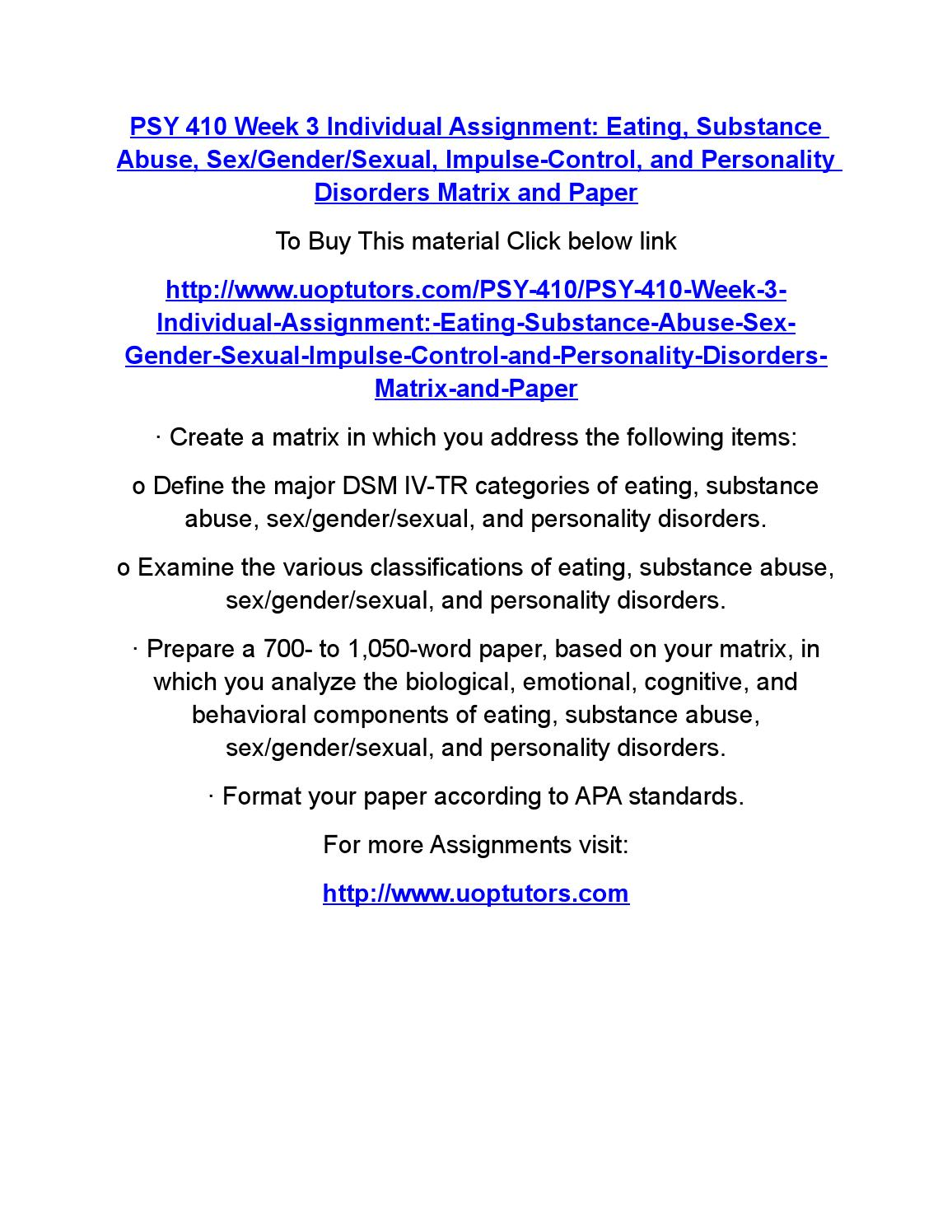 eating substance abuse sex gender sexual impulse control Impulse control, or eating  or maladaptive sexual behaviors are commonly reported as sex addictions [20,22,23] sexual  childhood sexual abuse and.