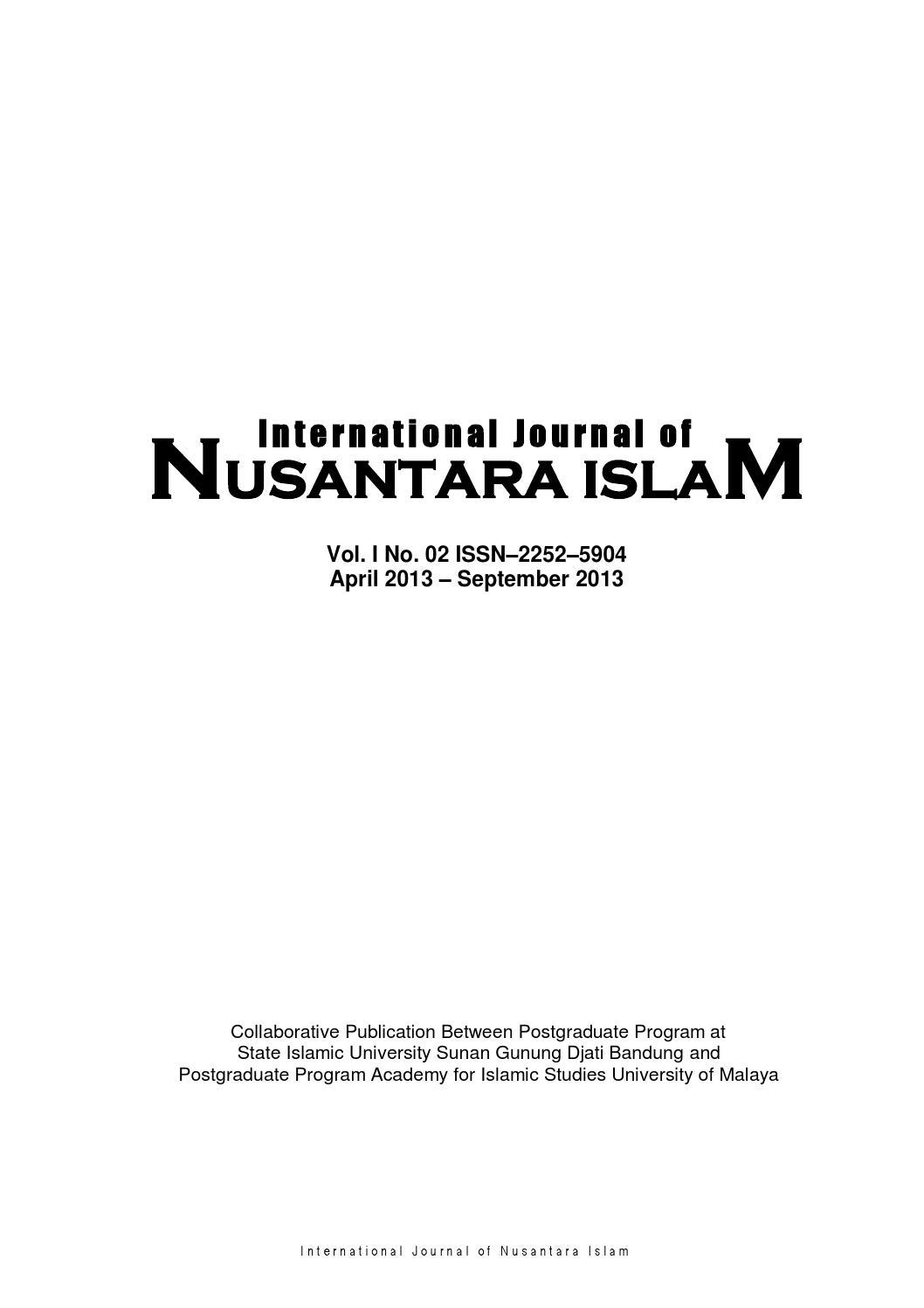 international journal of nusantara islam vol no by