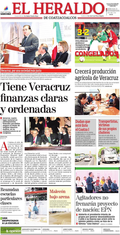 El Heraldo De Coatzacoalcos 19 De Noviembre De 2014 By El Heraldo  # Muebles Lainar Talavera Dela Reina