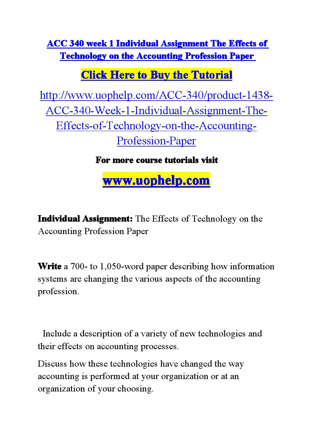 effects of technology on the accounting The impact of computer technology on accounting system and its effect on employment, largest undergraduate projects repository, research works and materials download undergraduate projects topics and materials accounting, economics, education.