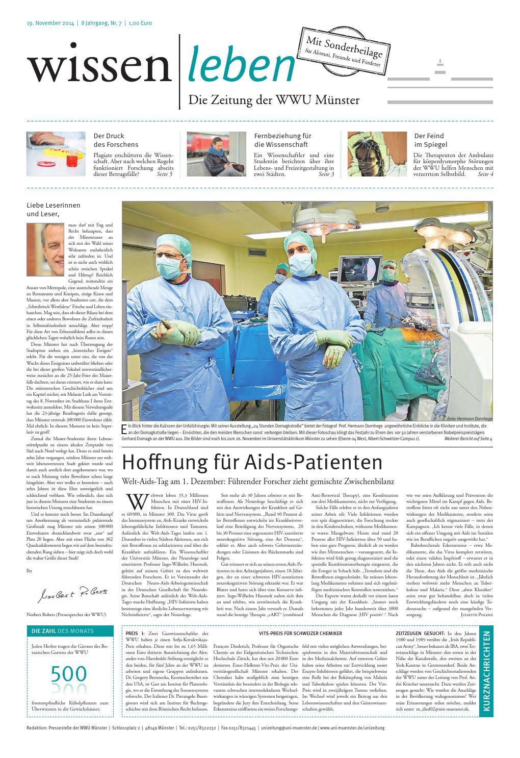 WISSEN|LEBEN - DIE ZEITUNG DER WWU MÜNSTER by Westfälische  Wilhelms-Universität Münster - issuu