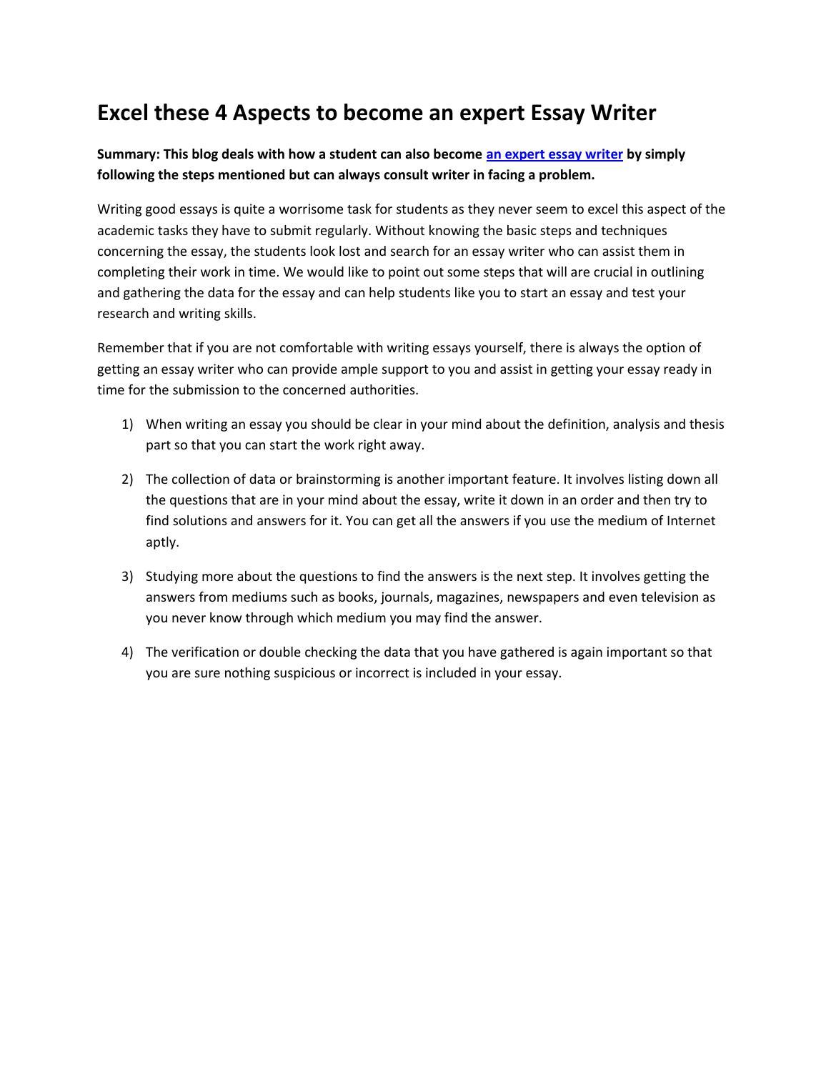 how to excel in studies essay
