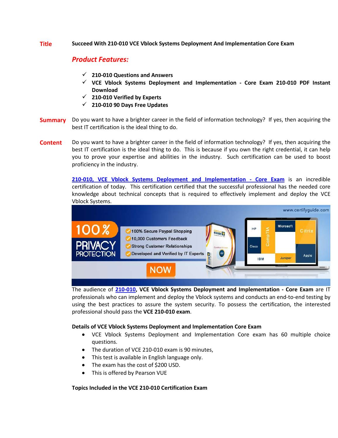 210 010 Certification Test By Curt Ussery Issuu