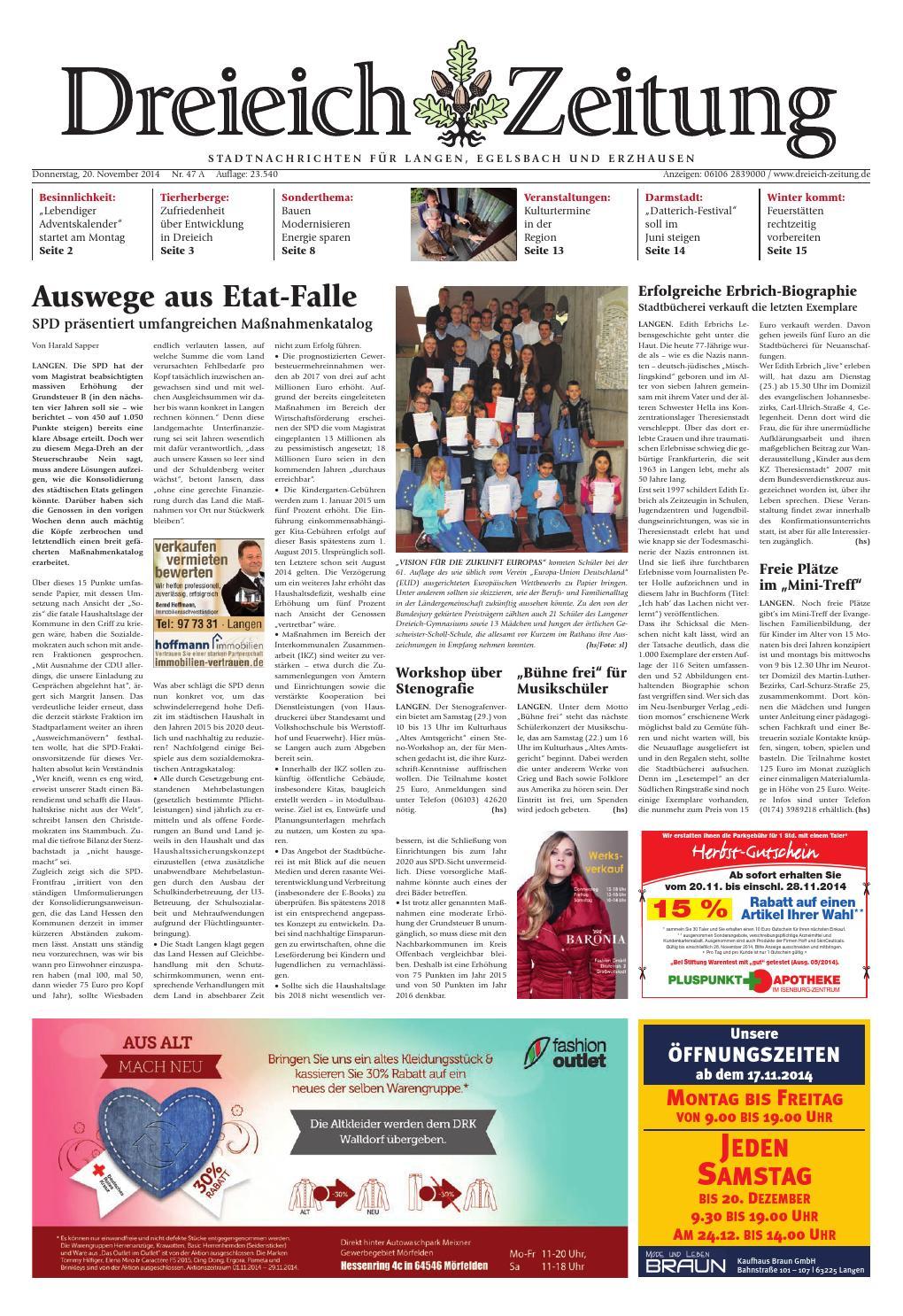 Dz online 047 14 a by Dreieich-Zeitung/Offenbach-Journal - issuu