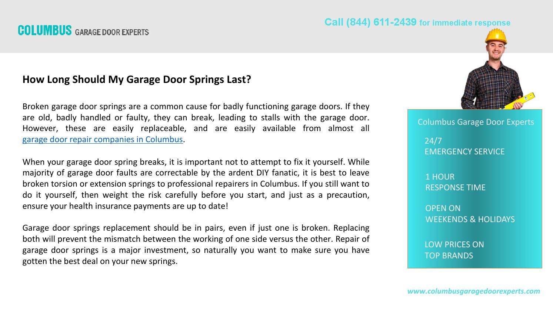 How Long Should My Garage Door Springs Last By Brett Stave Issuu