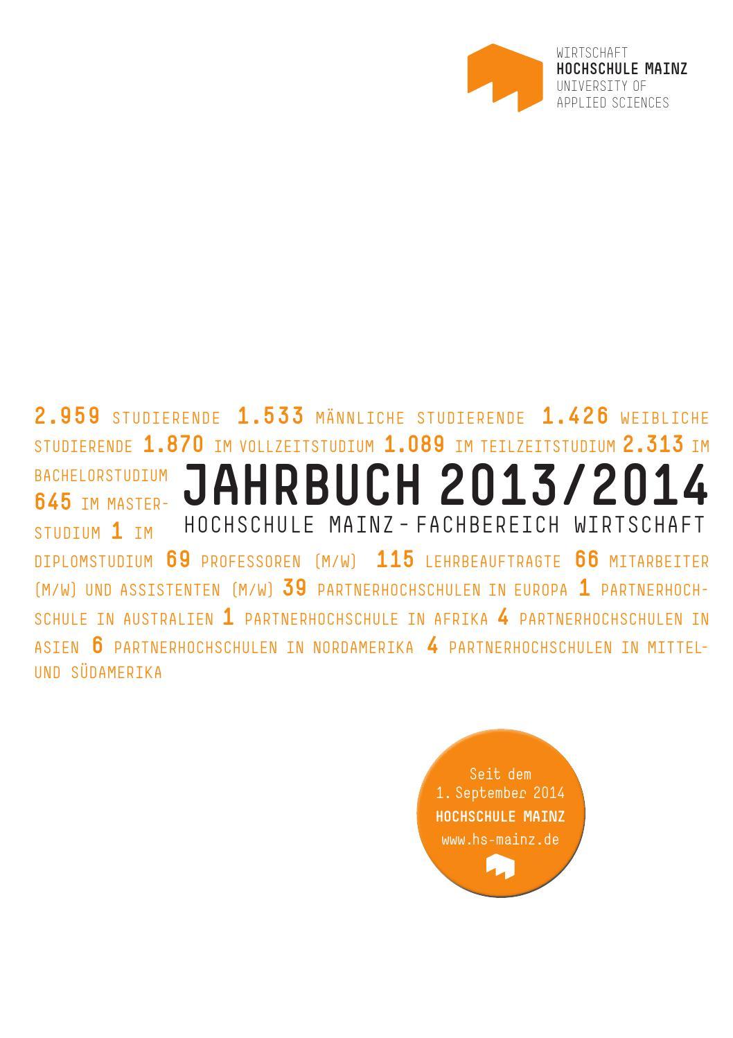 2014 Jahrbuch Fachbereich Wirtschaft by Hochschule Mainz - issuu