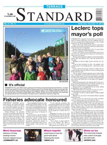 Terrace Standard November 19 2014 By Black Press Media