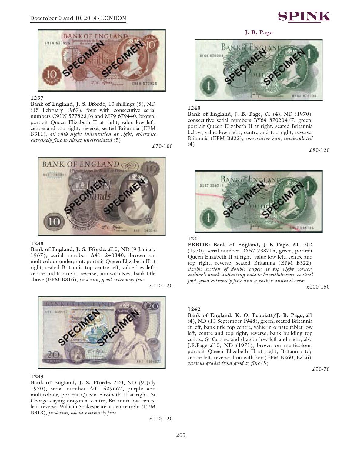 World Banknotes - 14039 by Spink and Son - issuu
