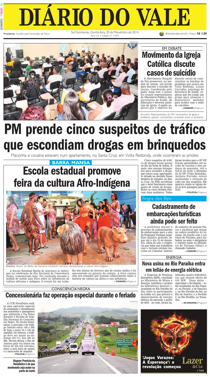 7493 diario quinta feira 20 11 2014 by Diário do Vale - issuu dca54ea7416