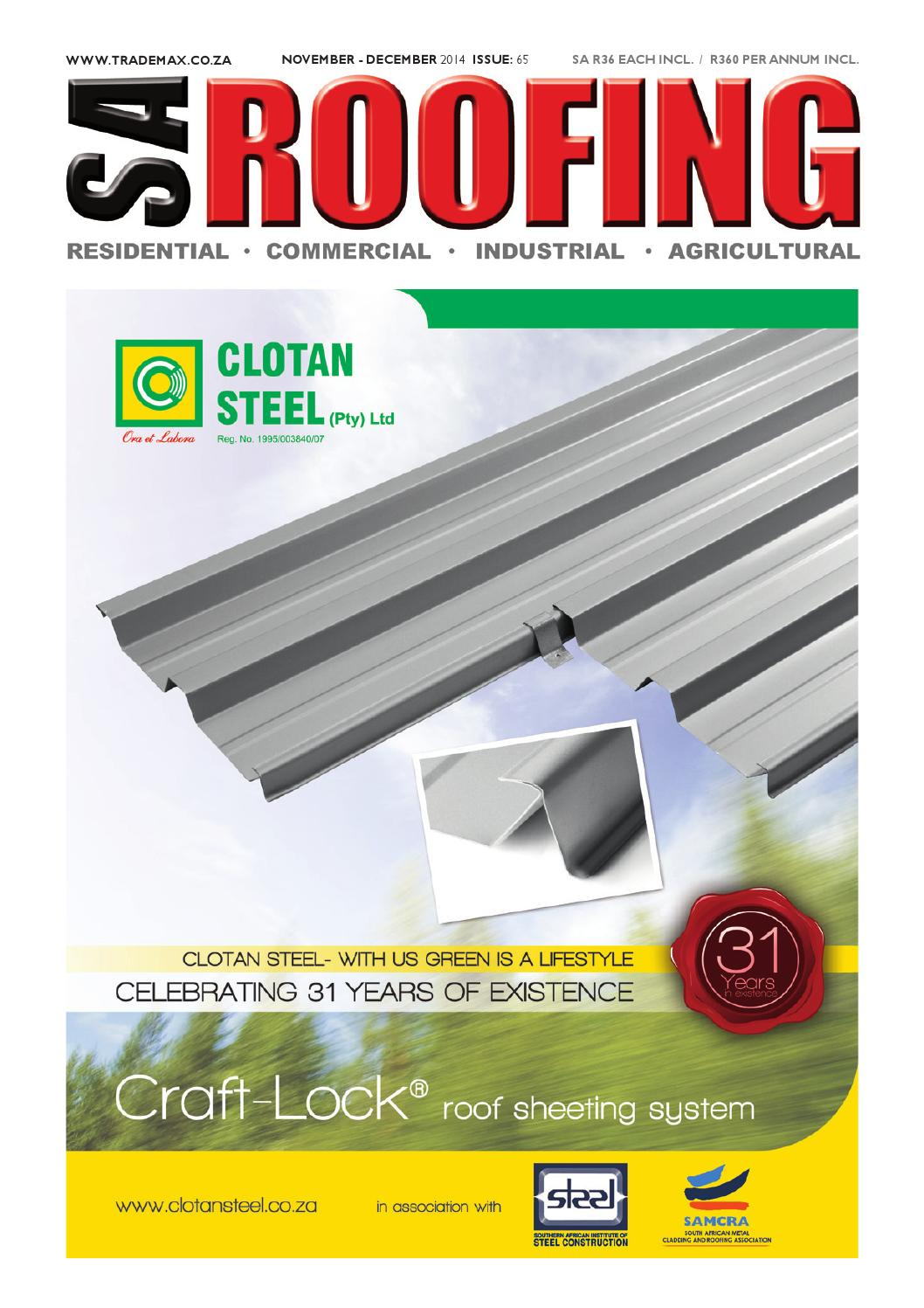 Sa Roofing November December 2014 Issue 65 By