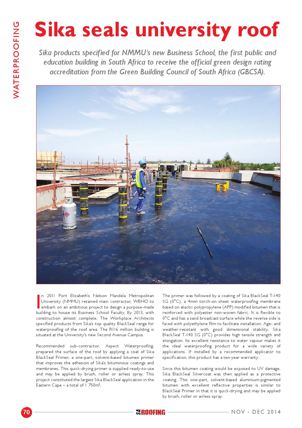 SA Roofing November - December 2014 | Issue: 65 by Trademax