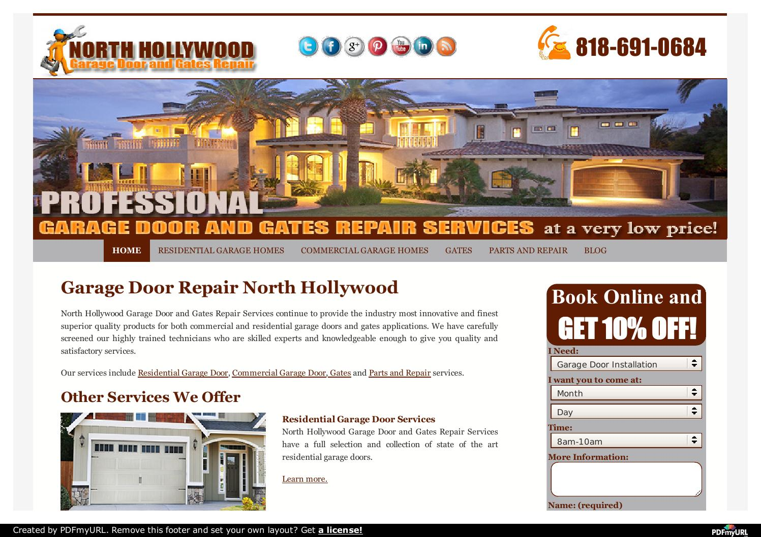 North Hollywood Garage Door And Gates Repair Services By Alex Arlington    Issuu