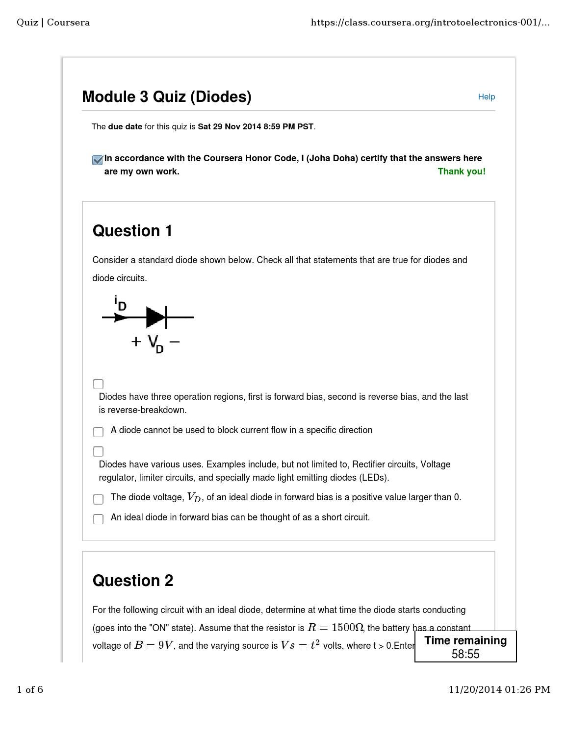 Diodequiz By Jd Issuu Constant Voltage Circuit
