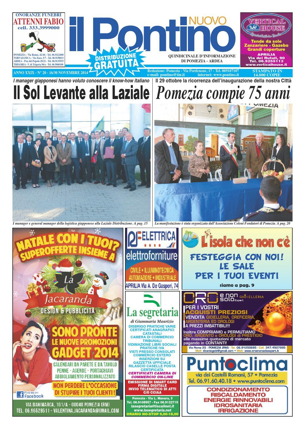 Il Pontino Nuovo n. 20 - 16 30 Novembre 2014 by Il Pontino Il Litorale -  issuu a3633ec5862