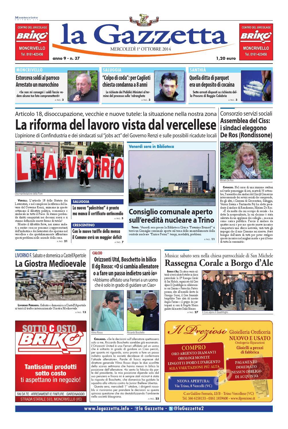 e9531249ba la Gazzetta 01 ottobre 2014 by La Gazzetta - issuu