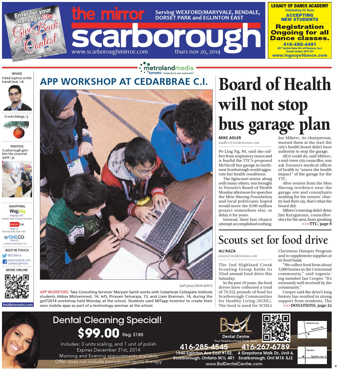 November 20 Central By The Scarborough Mirror Issuu