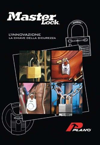 Master Lock 150EURQNOP 4 lucchetti Ottone 50mm con Arco Acciaio cementato 25mm Apertura Chiave Unica