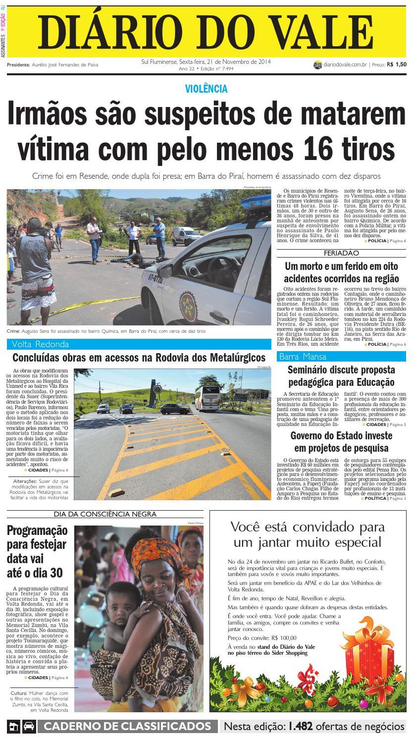 7494 diario sexta feira 21 11 2014 by Diário do Vale - issuu e3d731ef6bf