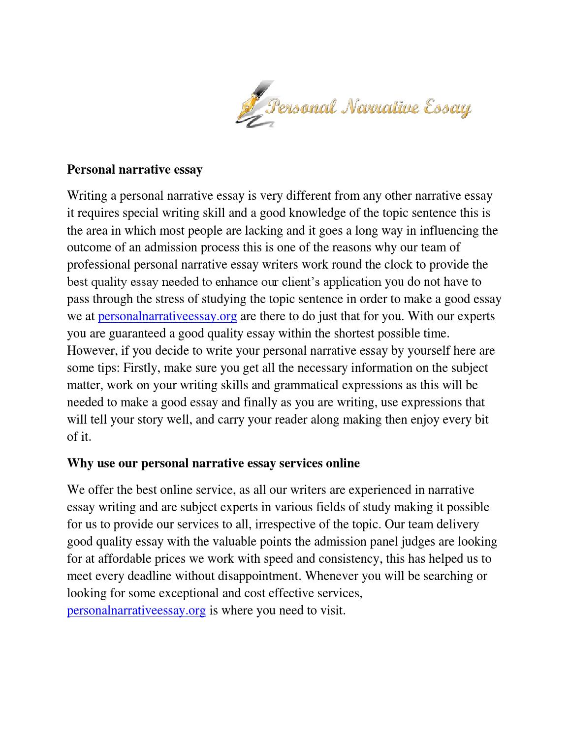 Experiential learning essays