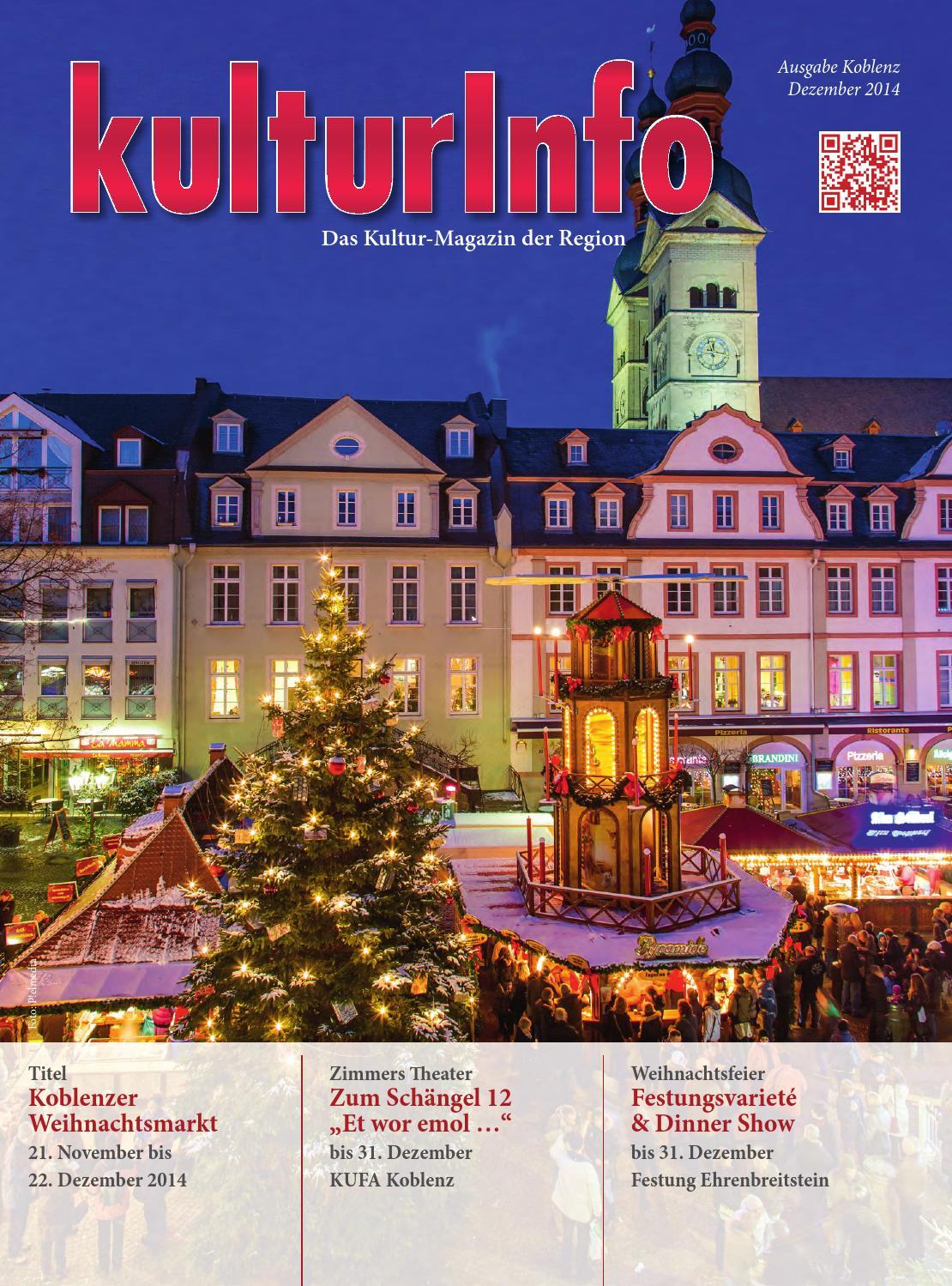 Koblenz issuu 12 2014 kleiner by Kulturverlag Günther Schmitz - issuu