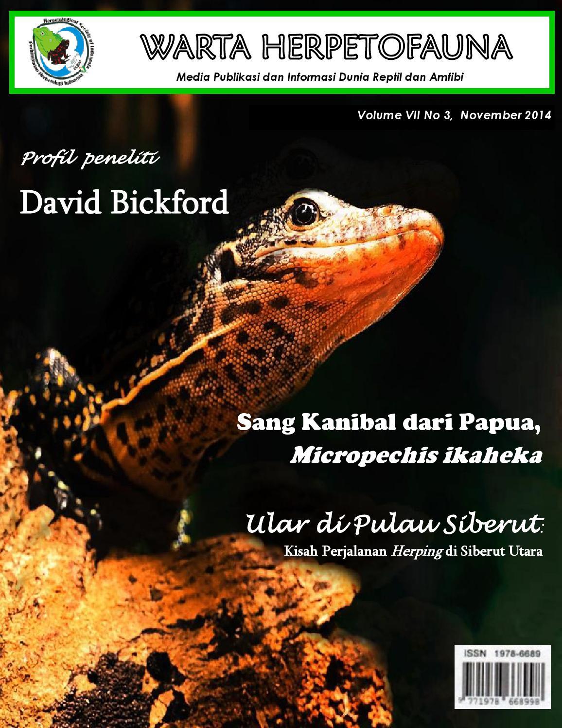 Warta Herpetofauna Edisi November 2014 By Perhimpunan Herpetologi