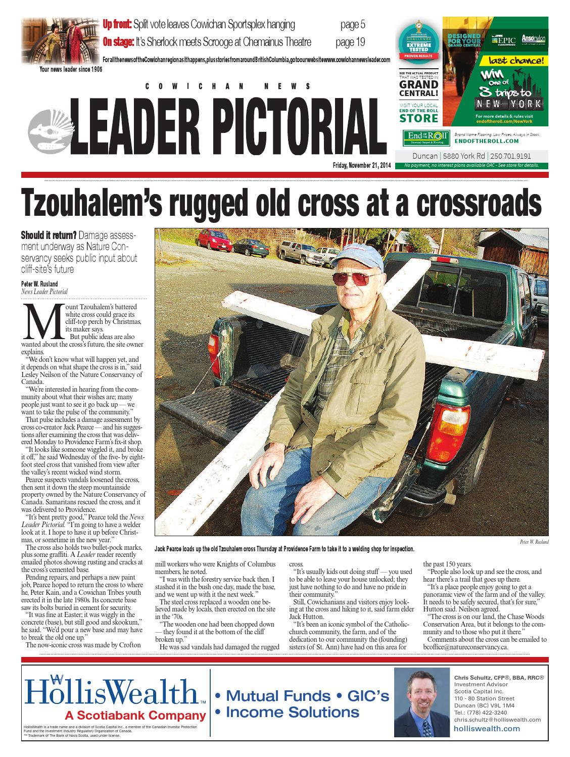 Cowichan News Leader Pictorial, November 21, 2014 by Black